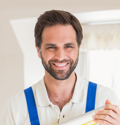 Handyman with Blue Uniforms