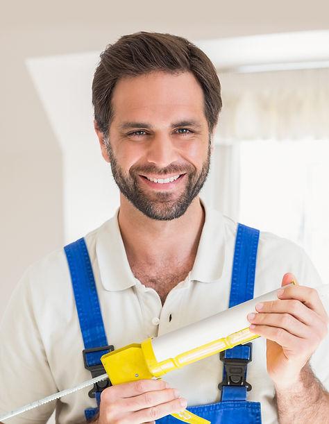 Handyman with Blue Uniforms