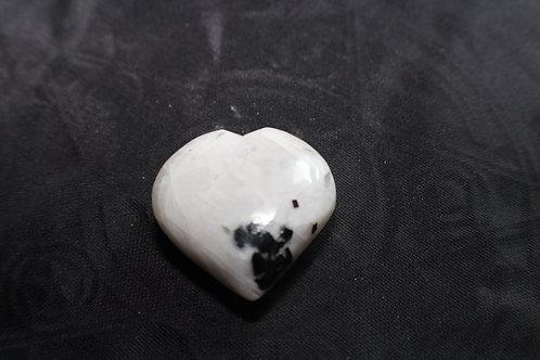Rainbow Moon stone Heart