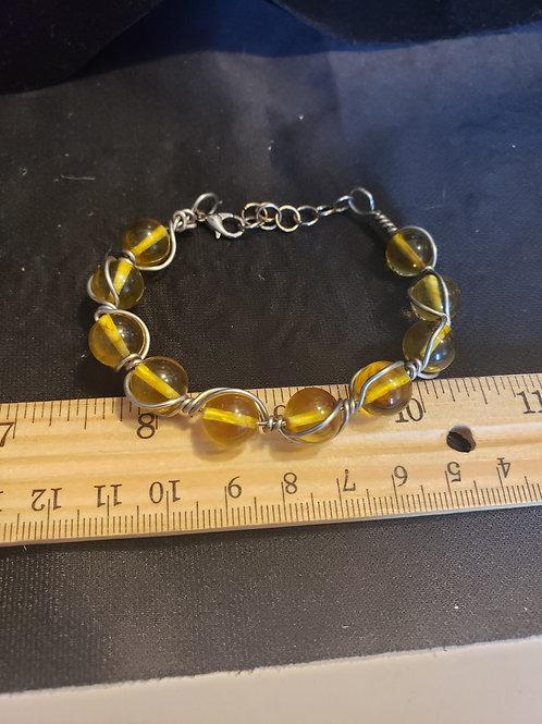 Amber lobster claw bracelet