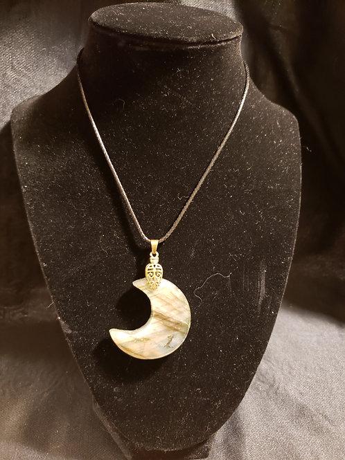 Labradorite Moon pendent