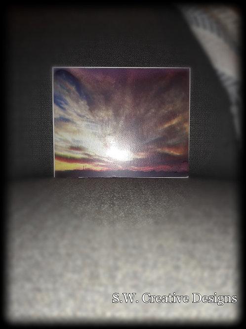 """When the Sunrise meet the Sunset"" Reflection Art"