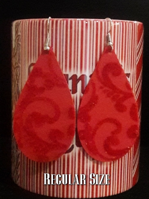 Mrs. Claus Tear Drop Earrings