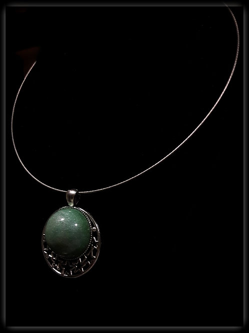 S.W. Lady Luck Green Stars Pendant and Necklace
