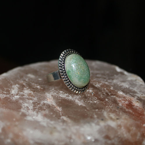 Lady Luck Antique Silver Ring