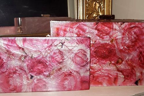 Pink Rose Designer Clutch