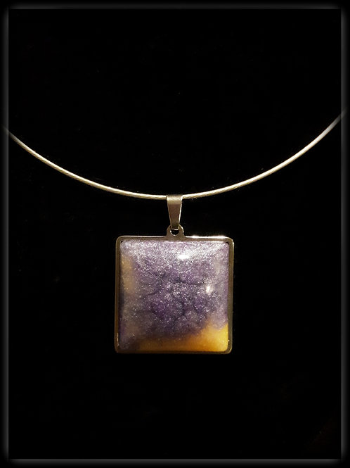 S.W. Sunset Crackle Square Pendant