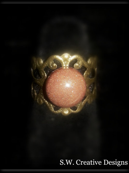 S.W. Princess Crown Glow Ring, Burnt Orange