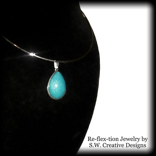 S.W. Reflexation Pendant and Necklace, Topez