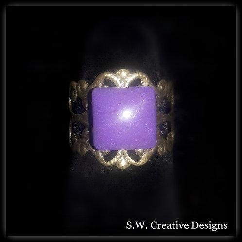 S.W. Purple Princess Crown Ring that Glows