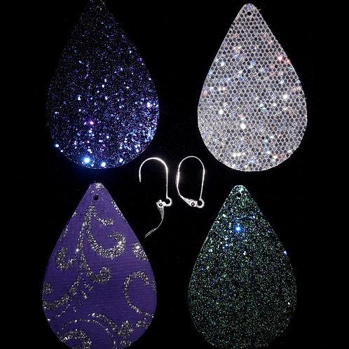 Sparkling Tear Drop Earrings (interchangable)
