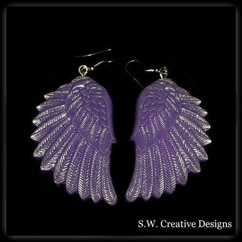 S.W. Angel Wings, Purple Shimmer and Glows in the Dark