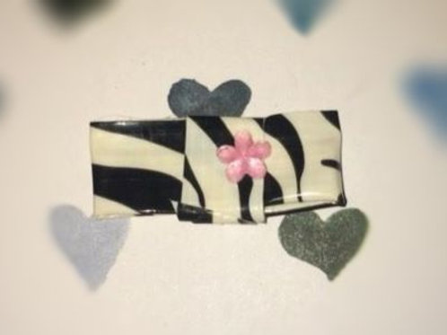 Black and White Tiger Stripe Handmade LPS Bow