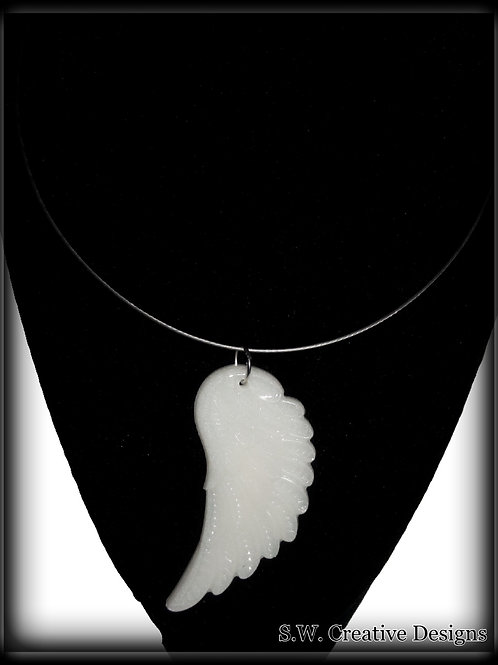 S.W. Angel Wings Pendant and Necklace