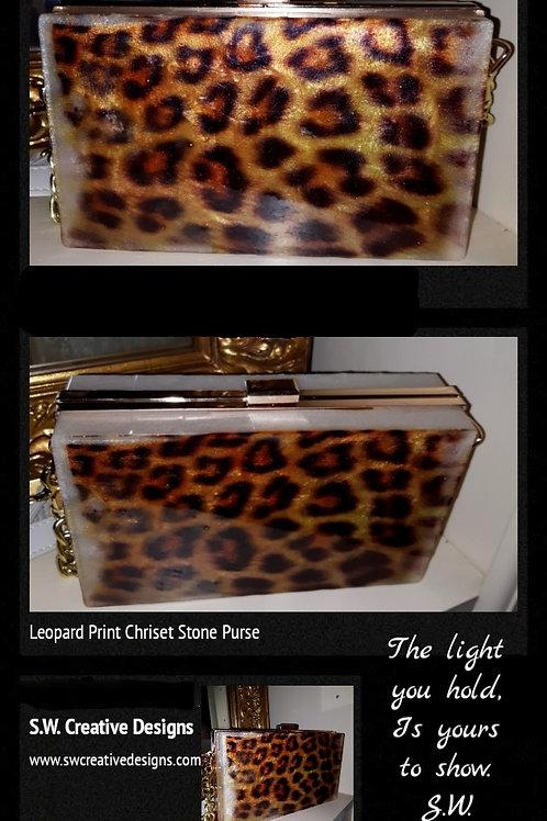 Leopard Print Clutch Purse