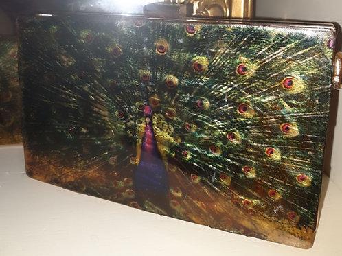Mr. Peacock Designer Clutch