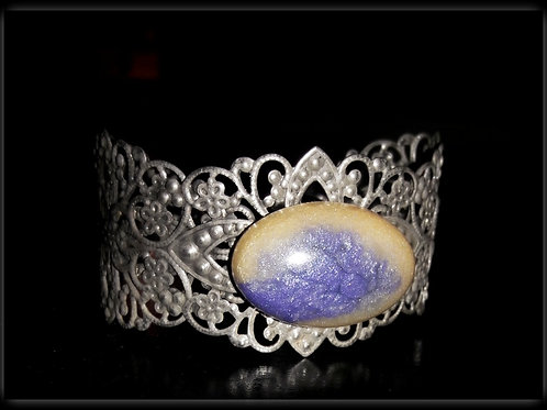 S.W. Sunset Crackle Oval Cuff Bracelet