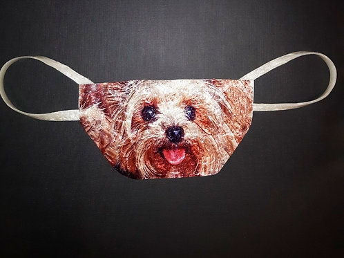 Yorkie, Yorkshire Terrier Shield and Mask Combo, Shask