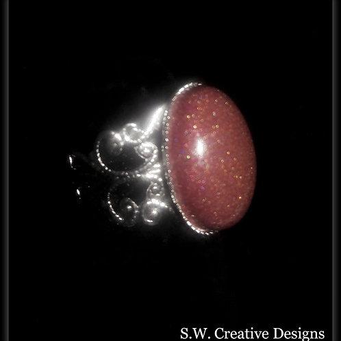 S.W. Shimmer Glow Ring, Burnt Orange