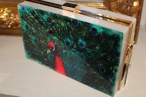All Peacock Clutch