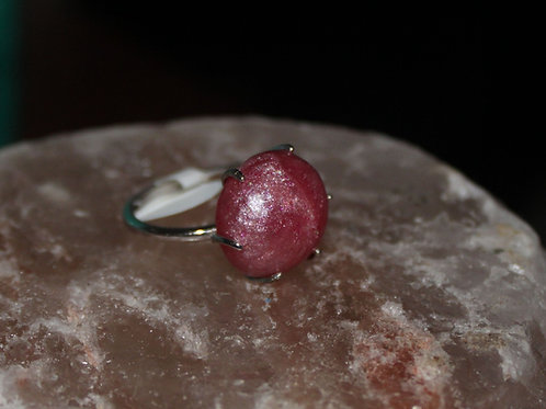 Hot Pink Sterling Silver Ring