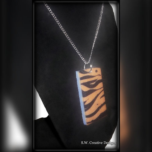 S.W. Tiger Print Glow in the Dark Pendant and Necklace