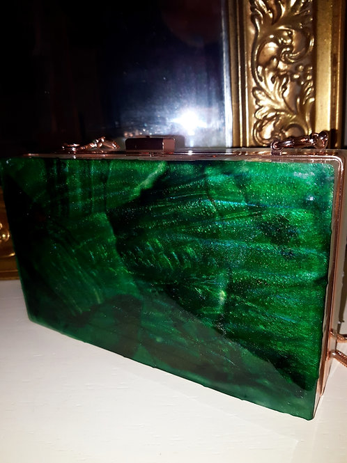 Emerald & Gold Designer Clutch