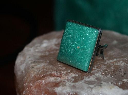 Mermaid Green Silver Ring