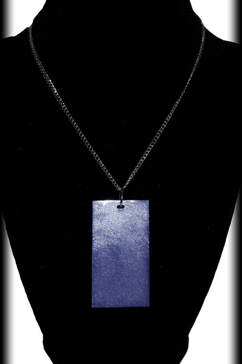 S.W. Change your Colors Purple Rectangle Pendant and Necklace