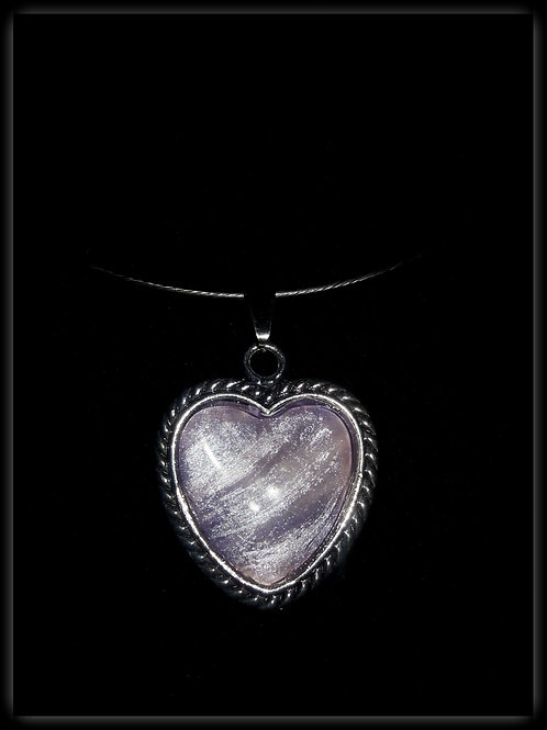 S.W. Unique Sight Heart Necklace and Pendant