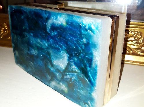 Blue Marble Designer Clutch