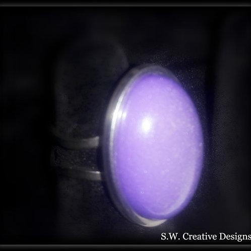 S.W. Purple Shimmer Glow Ring
