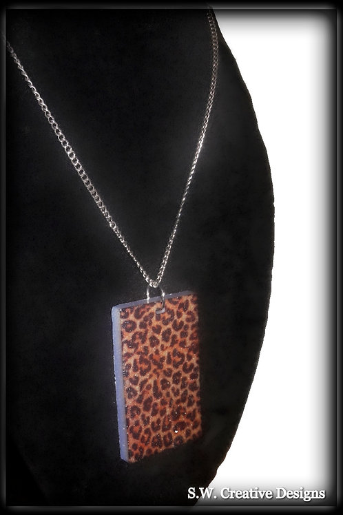 S.W. Leopard Print Necklace and Pendant