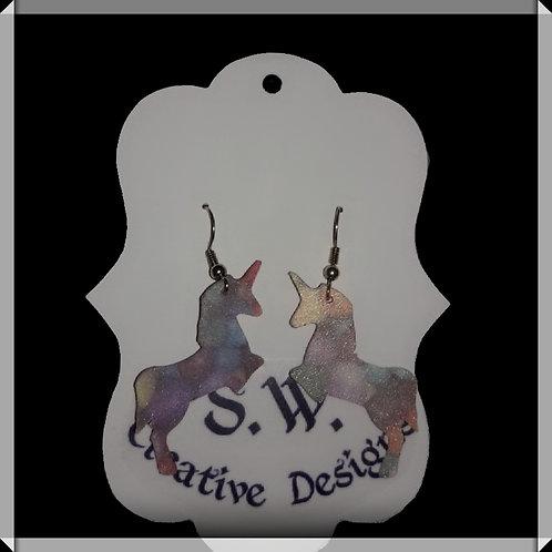 S.W. Sprinkle Unicorn Earrings(Medium)