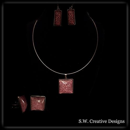 S.W. Leopard Print Jewelry Set