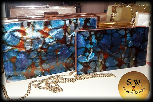Royalty Clutch Purse and Mirror Compact