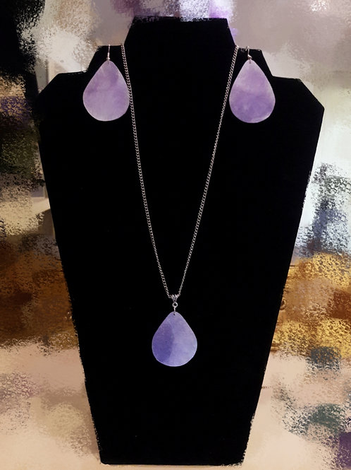 Purple Affections Necklace and Earring Set