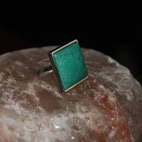 Mermaid Crackle Silver Ring