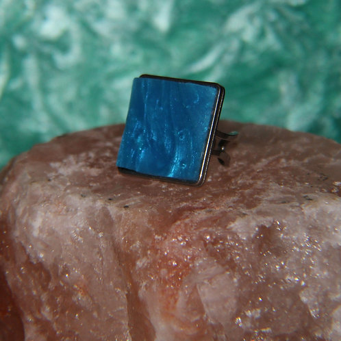 Ocean Blue Silver Ring