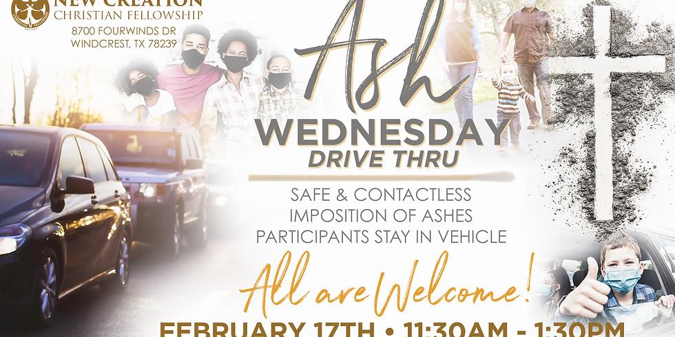 DRIVE THRU-CITY WIDE ASH WEDNESDAY