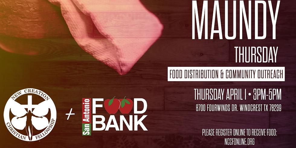 MAUNDY THURSDAY SAN ANTONIO FOOD BANK DISTRIBUTION