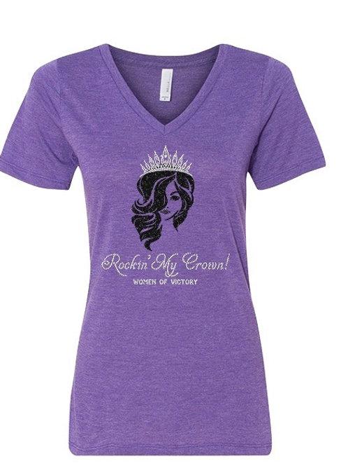 Rockin' My Crown Purple Shirt