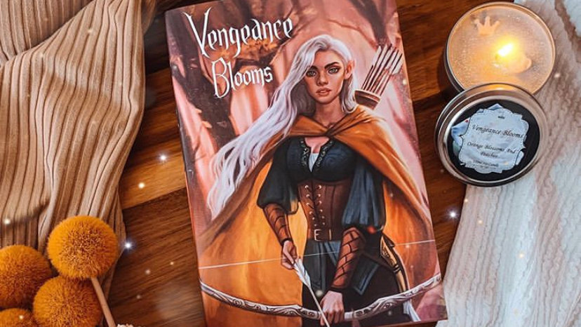 Vengeance Blooms hardcover. Signed and with free bookmark.
