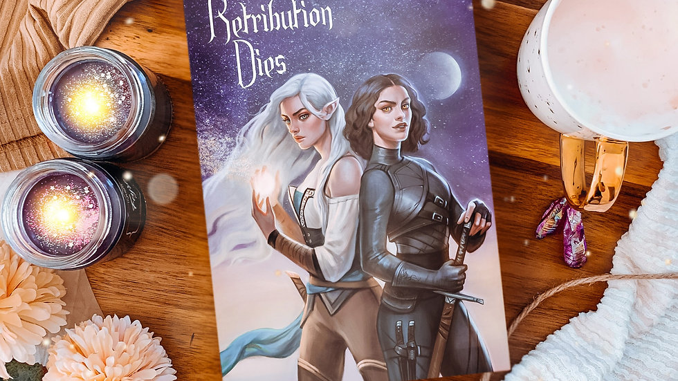 Retribution Dies hardcover. Signed and with free bookmark.