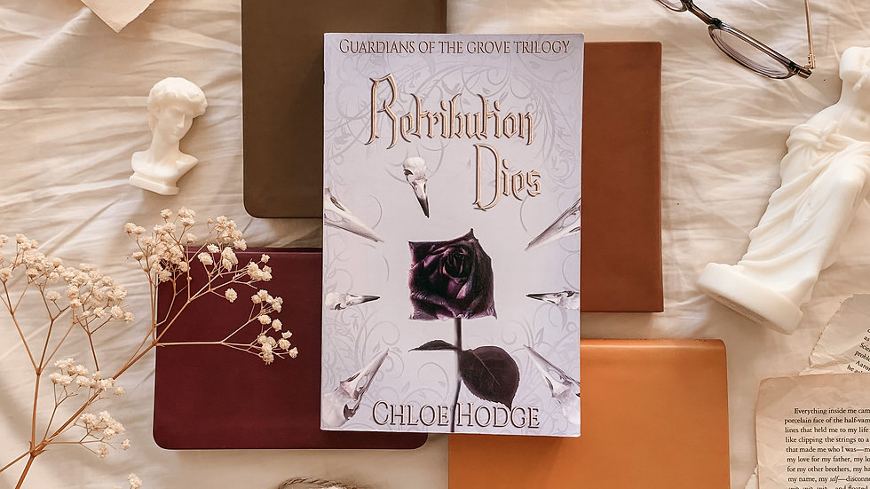 Retribution Dies paperback (2) with free bookmark