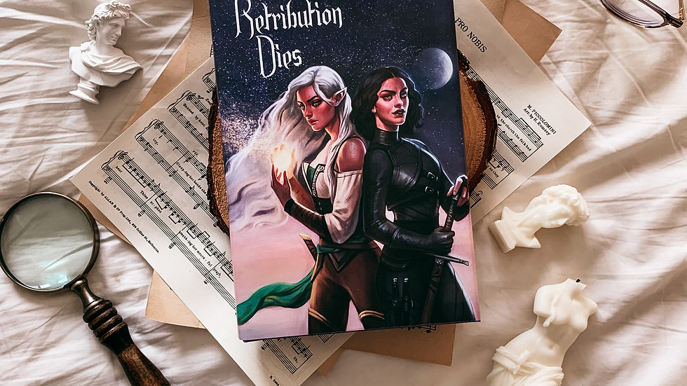 Retribution Dies hardcover (2) with free bookmark.