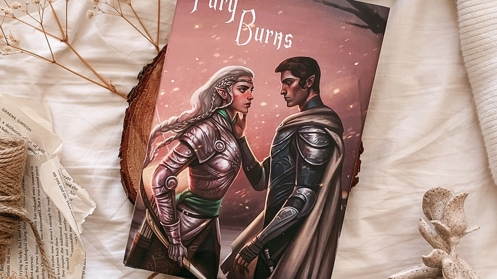 Fury Burns hardcover (3) Signed and with free bookmark