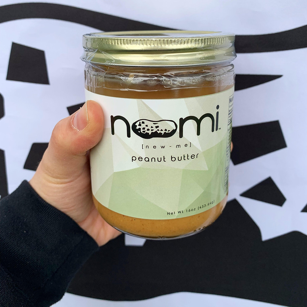 16oz jar of Noomi organic peanut butter