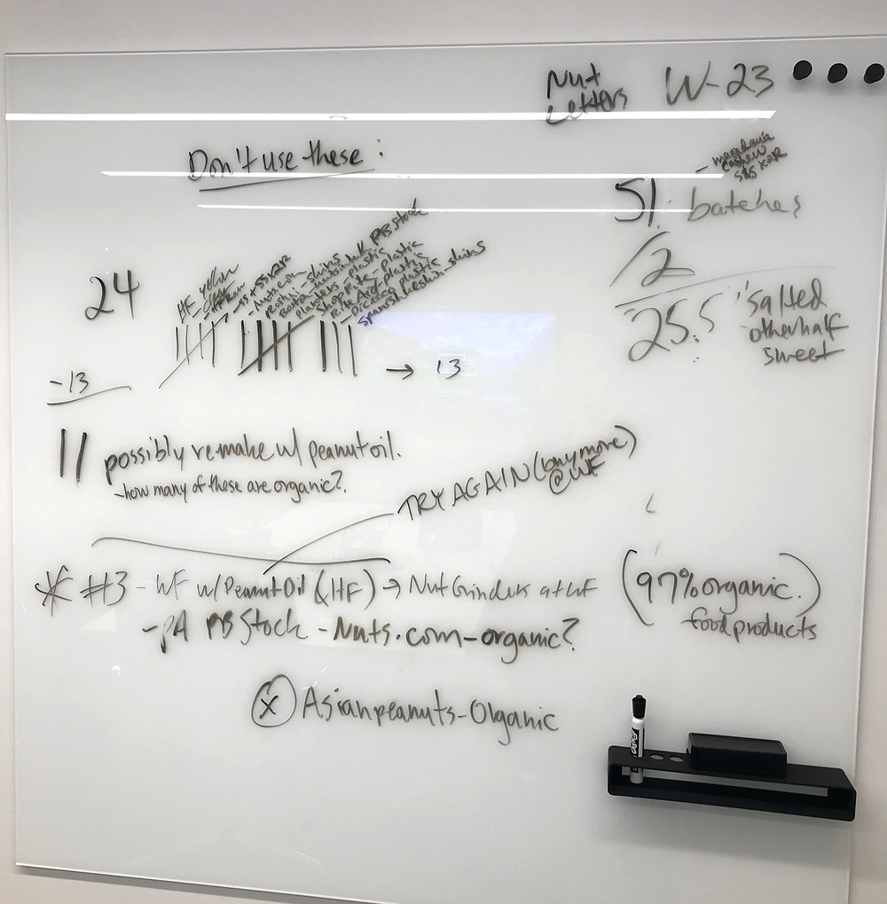 Whiteboard from TPG meetings