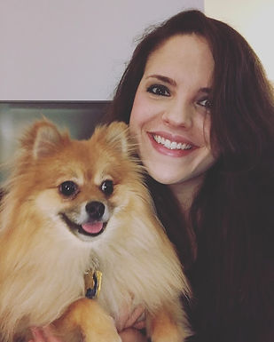 Krystina Murawski and Jaxston Gandalf (the Pomeranian)